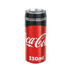 COCA COLA ZERO BANKA 330 ML